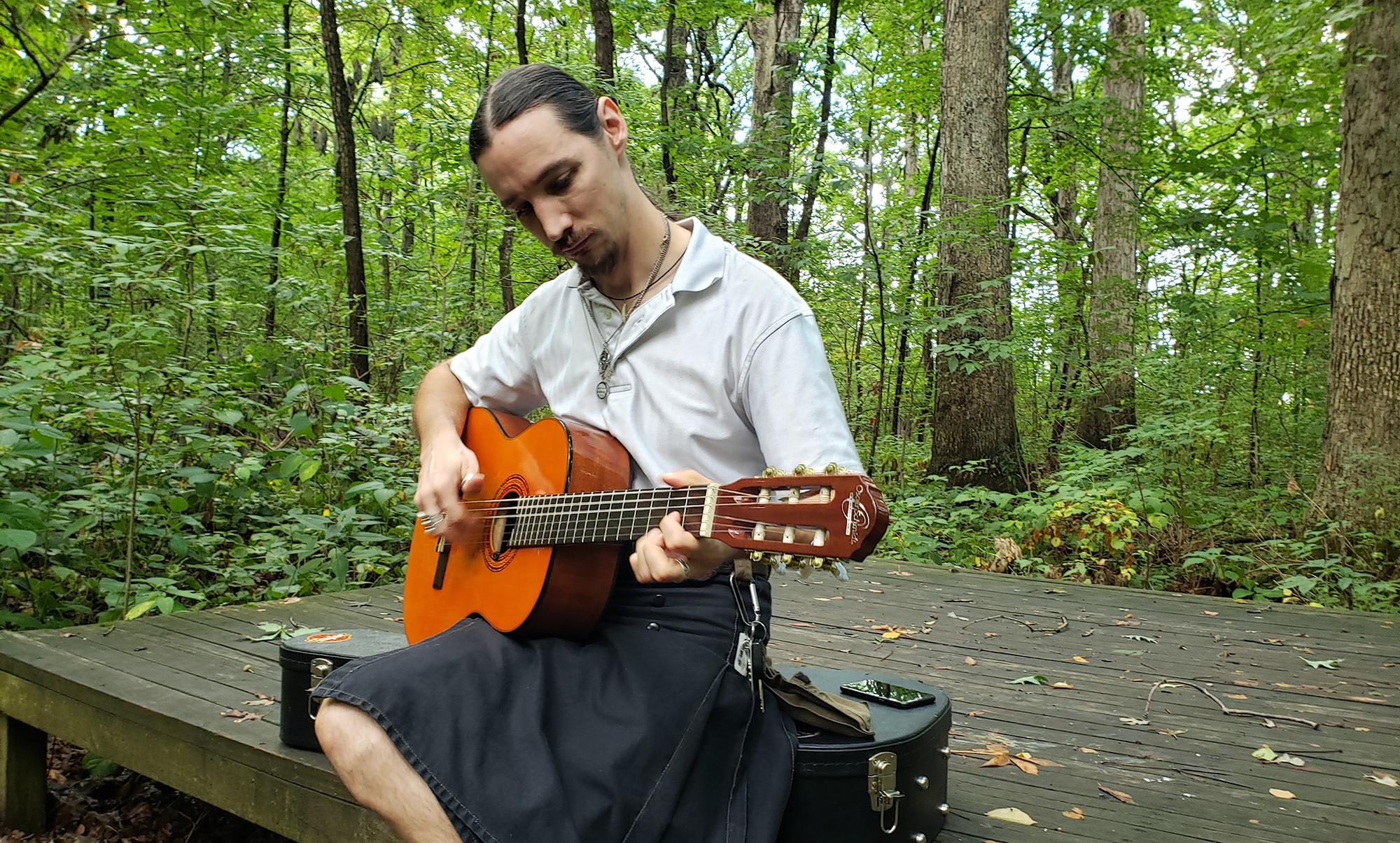 David Goeglein, Guitar Angel, Sassafras Hollow, Lindenwood Nature Preserve
